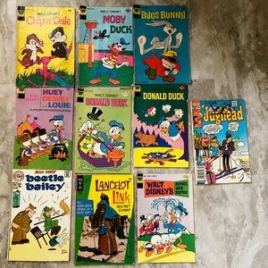 10 vintage early 70's comic books